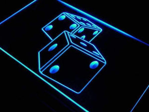 Game Room Dice Neon Sign (LED)-Way Up Gifts