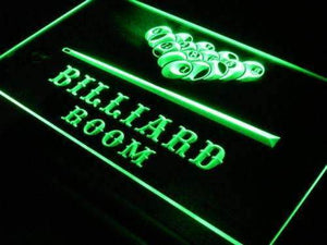 Game Room Pool Hall Billiards Neon Sign (LED)-Way Up Gifts