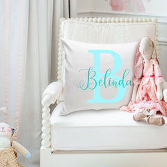 Personalized Girls Name Throw Pillow