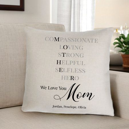Personalized Mother Home Décor Throw Pillow - Way Up Gifts