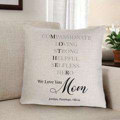 Personalized Mother Home Décor Throw Pillow