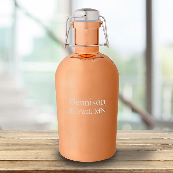 Personalized Copper 64oz Growler - Way Up Gifts