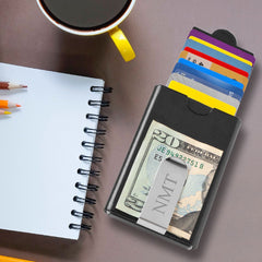 Personalized Modern Minimalist Wallet with Money Clip