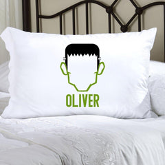 Personalized Halloween Character Pillowcase - Frankenstein