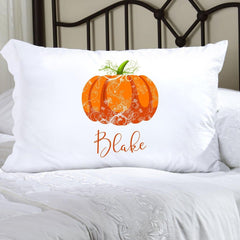 Personalized Halloween Character Pillowcases - Pumpkin
