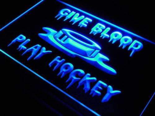 Give Blood Play Hockey LED Neon Light Sign - Way Up Gifts