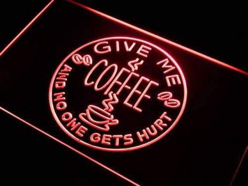 Give Me Coffee LED Neon Light Sign - Way Up Gifts
