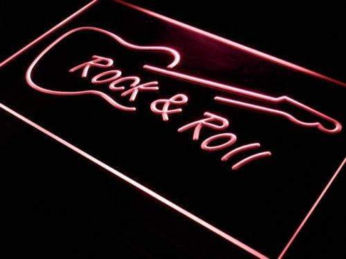 Guitar Rock and Roll LED Neon Light Sign - Way Up Gifts