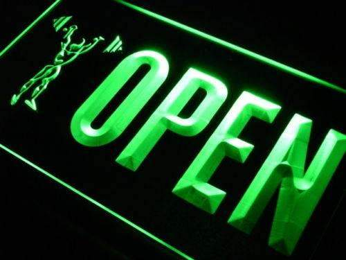 Gym Weightlifting Open LED Neon Light Sign - Way Up Gifts