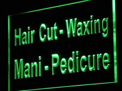 Hair Cut Waxing Manicure Pedicure LED Neon Light Sign - Way Up Gifts