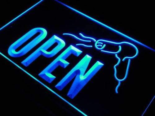 Hair Dryer Salon Open LED Neon Light Sign - Way Up Gifts