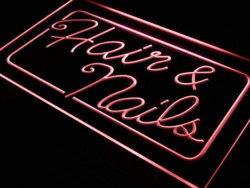 Hair Nails Beauty Salon LED Neon Light Sign - Way Up Gifts