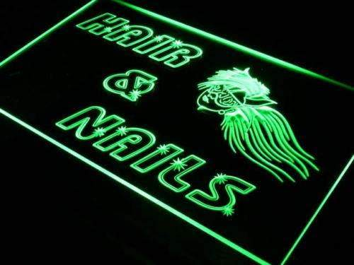 Hair Nails Salon LED Neon Light Sign - Way Up Gifts