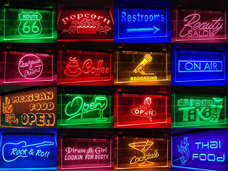 Hamburger Open LED Neon Light Sign - Way Up Gifts