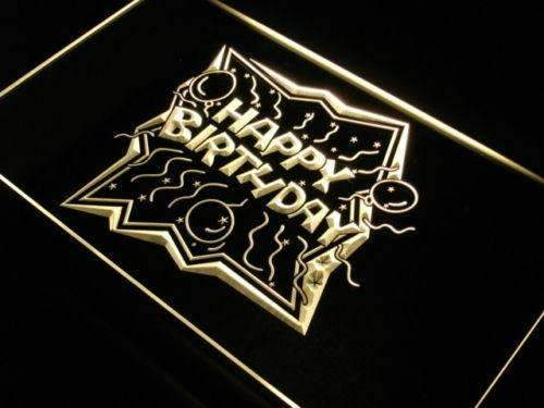 Happy Birthday LED Neon Light Sign - Way Up Gifts