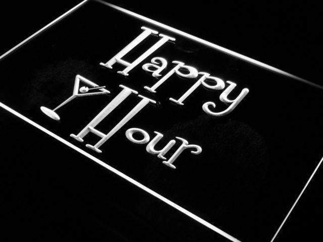 Happy Hour Martini LED Neon Light Sign - Way Up Gifts