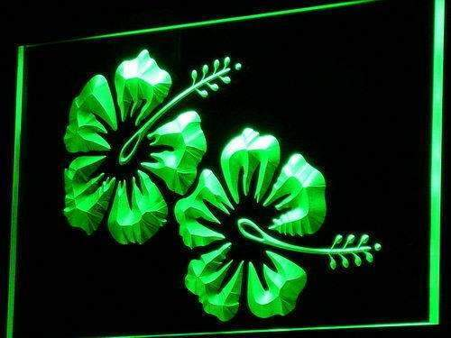 Hawaiian Hibiscus Flower LED Neon Light Sign - Way Up Gifts