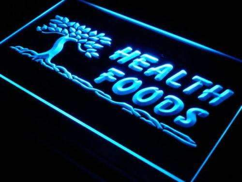 Health Foods LED Neon Light Sign - Way Up Gifts