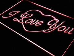 Heart I Love You LED Neon Light Sign