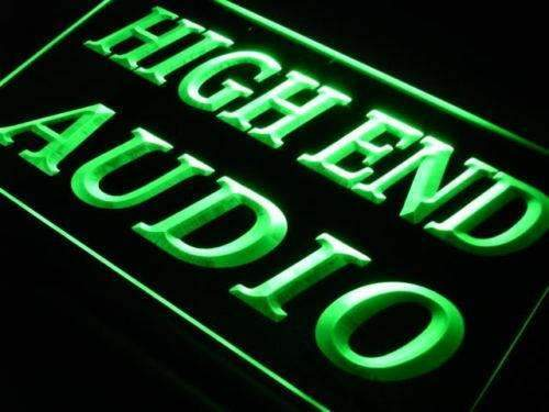 High End Audio Shop LED Neon Light Sign - Way Up Gifts