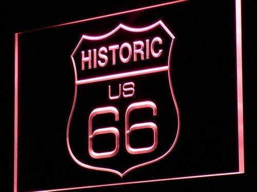 Historic Route 66 LED Neon Light Sign - Way Up Gifts