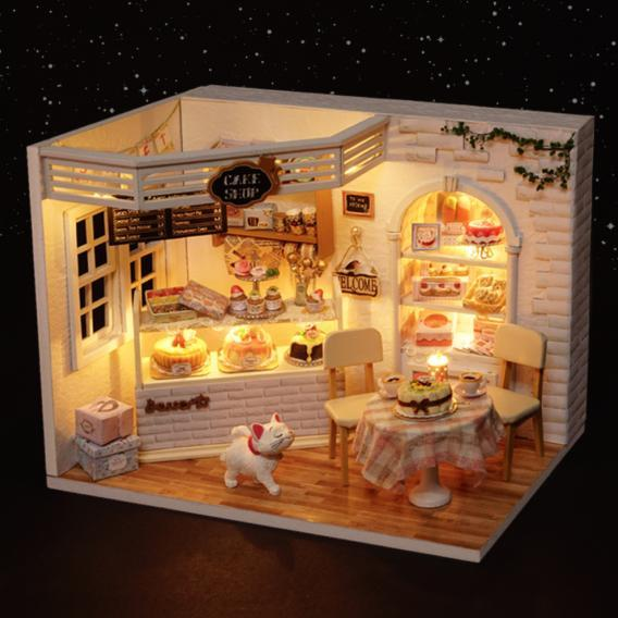 Dollhouse Furniture & Home DIY Kit - Cake Shop  Kids > Dollhouses > Dollhouse DIY Kits - Way Up Gifts