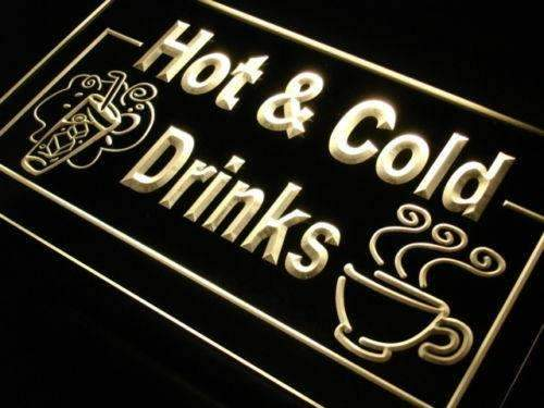 Hot and Cold Drinks LED Neon Light Sign - Way Up Gifts