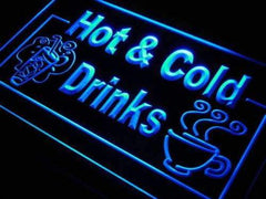 Hot and Cold Drinks LED Neon Light Sign