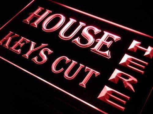 House Keys Key Cutting LED Neon Light Sign - Way Up Gifts