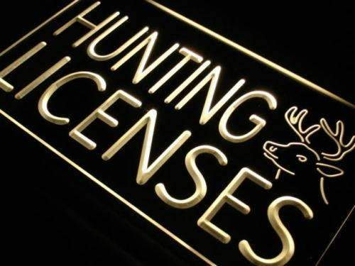 Hunting Licenses LED Neon Light Sign - Way Up Gifts