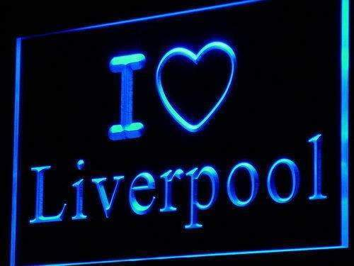 I Love Liverpool LED Neon Light Sign - Way Up Gifts