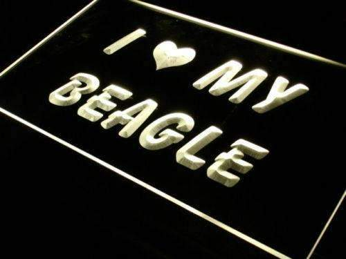 I Love My Beagle LED Neon Light Sign - Way Up Gifts