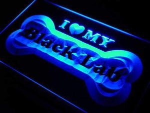 I Love My Black Labrador Retriever Neon Sign (LED)-Way Up Gifts