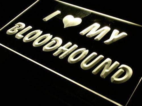 I Love My Bloodhound LED Neon Light Sign - Way Up Gifts