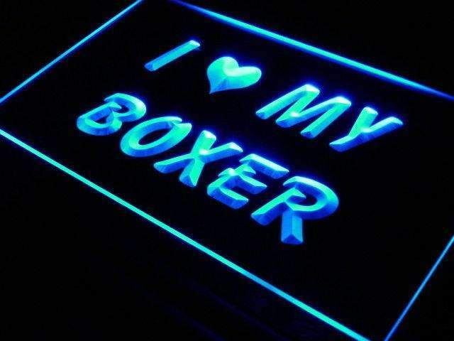 I Love My Boxer LED Neon Light Sign - Way Up Gifts