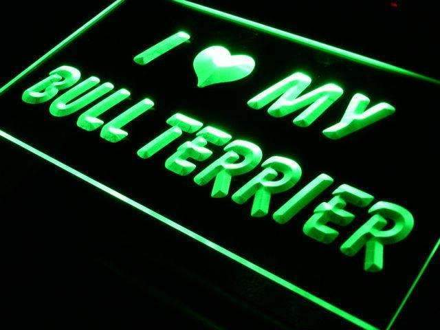 I Love My Bull Terrier LED Neon Light Sign - Way Up Gifts