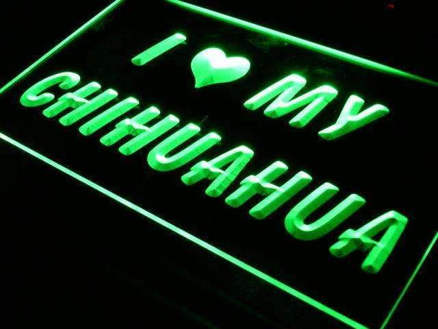 I Love My Chihuahua LED Neon Light Sign - Way Up Gifts