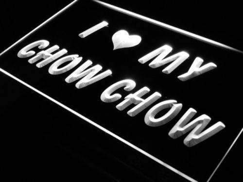 I Love My Chow Chow Dog LED Neon Light Sign - Way Up Gifts