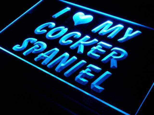 I Love My Cocker Spaniel LED Neon Light Sign - Way Up Gifts