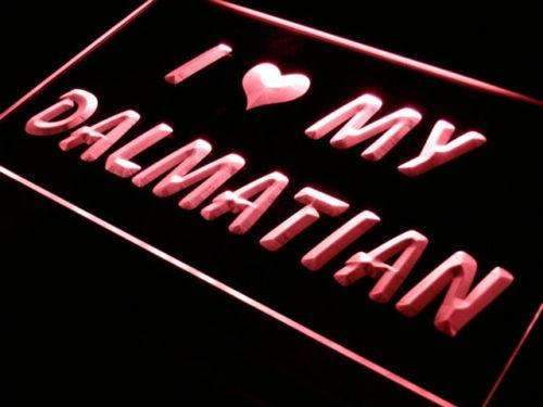 I Love My Dalmatian LED Neon Light Sign - Way Up Gifts
