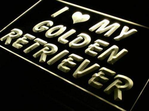 I Love My Golden Retriever LED Neon Light Sign - Way Up Gifts