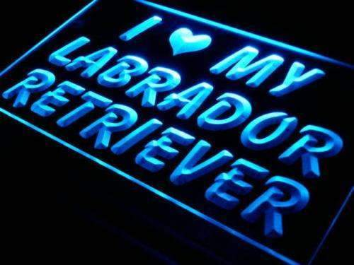 I Love My Labrador Retriever LED Neon Light Sign - Way Up Gifts