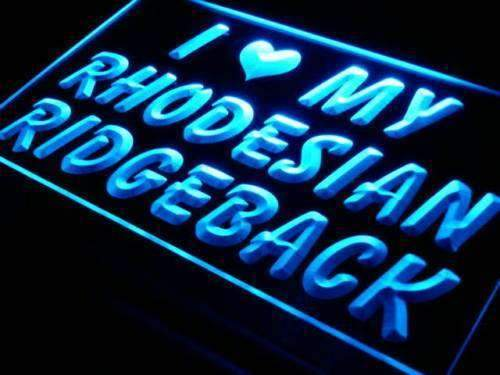 I Love My Rhodesian Ridgeback LED Neon Light Sign - Way Up Gifts