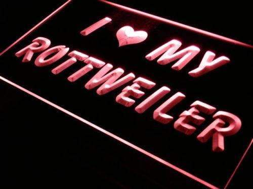 I Love My Rottweiler LED Neon Light Sign - Way Up Gifts