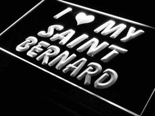 I Love My Saint Bernard LED Neon Light Sign - Way Up Gifts