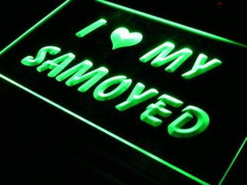 I Love My Samoyed Dog LED Neon Light Sign - Way Up Gifts