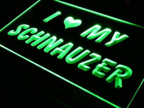I Love My Schnauzer Dog LED Neon Light Sign - Way Up Gifts