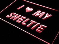 I Love My Sheltie Shetland Sheepdog LED Neon Light Sign