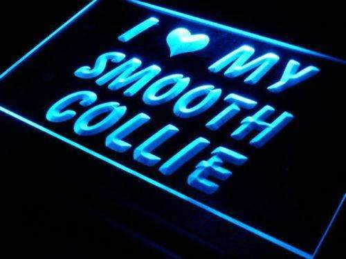 I Love My Smooth Collie Dog LED Neon Light Sign - Way Up Gifts