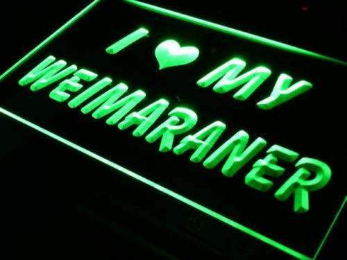 I Love My Weimaraner LED Neon Light Sign - Way Up Gifts